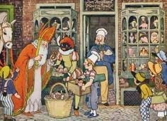 A Polar Bear's Tale Sinterklaas Santa Claus Anton Pieck Father Christmas, Christmas Art, Vintage Christmas, Magical Christmas, Homemade Christmas, Christmas Ideas, Xmas, Dutch Artists, Great Artists