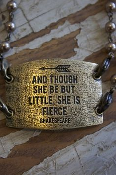 I am not little by any standard, but i am fierce. Fierce messenger Necklace - Lenny & Eva