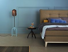 Boxspringbett Auping Criade steht grazil auf seinen Aluminiumfüßen #aupingde #boxspringbetten #boxspring #betten #beds #schlafzimmer #bedroom #schlafkomfort #guterschlaf #sleepwell