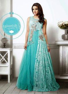 Maroon Cream Georgette Net Long Gown #party wear #wedding wear ...