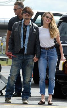 "Johnny Depp and Amber Heard Seen Together for the First Time Since Their Wedding, Remain ""Very Much in Love"" Johnny Depp, Amber Heard"