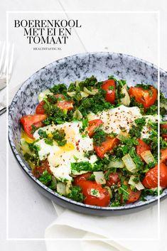 Een heerlijke koolhydraatarme lunch. Voedzaam, snel en lekker! Caprese Salad, Lunch, Food, Tomatoes, Eat Lunch, Essen, Meals, Lunches, Yemek