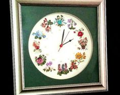 clock ribbon embroidery ribbon embroidery clock s by eygem