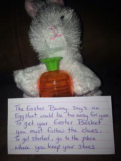 Easter Scavenger Hunt clue #1