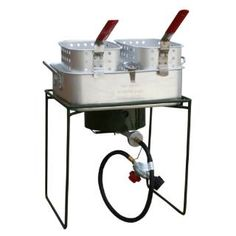 Check out the Buffalo Tools SBCOOK18 Sportsman Series Double Basket Outdoor Cooker and Fryer with Single Burner