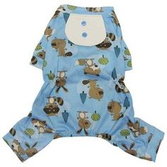Forest Friends Lightweight Pajamas with Attached Bib for Small Dogs - XL -- Remarkable product available now. Dog Pajamas, Forest Friends, Dog Dresses, Dog Toys, Small Dogs, Pet Supplies, Dog Lovers, Rompers, Pets