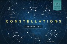Constellations Vector Set by skyboxcreative on @creativemarket