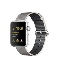 Apple Watch (Series 2) - Silver Aluminum Case with Pearl Woven Nylon (38mm & 42mm)
