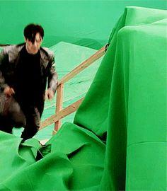 on set of Star Trek