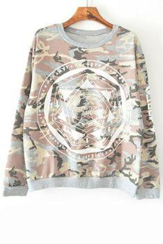 Punk Camouflage Sweatshirt OASAP.com