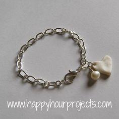 Happy Hour Projects: Fingerprint Charm Bracelet