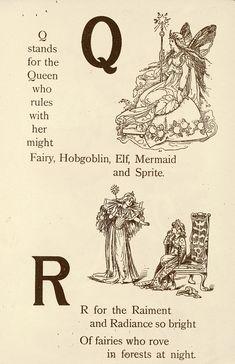 "Fairyland ABC - Father Tuck's ""Alphabet"" Series, 1902. ""Q for Queen, R for Raiment"""
