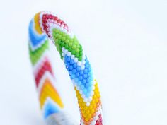 """Bead Crochet Bracelet """"Have a rainbow day"""" colorful for women for girl rainbow"""