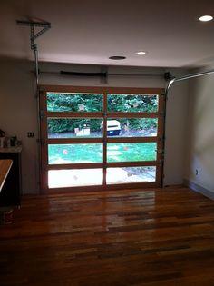 Glass Garage Door In Kitchen