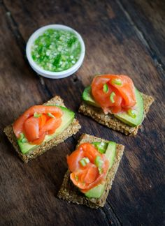 Avocado and Salmon Snack