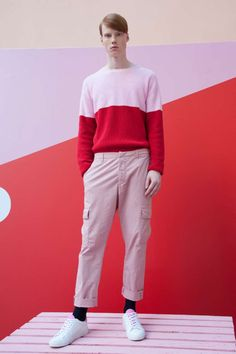 Dondup Spring-Summer 2018 Collection Aesthetic Boy, Aesthetic Fashion, Male Fashion Trends, Mens Fashion, Spring Summer 2018, Color Blocking, Taylor Swift, My Style, How To Wear
