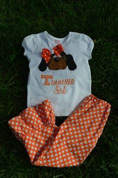 Smokey the Dog University of Tennessee VOLS by ThePinkPearBoutique, $32.00