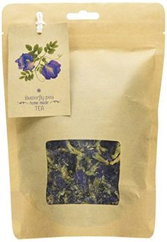 Smileshops Organic Herbal Dried Butterfly pea Flowers Herb Thai&Pandanus Tea (Lusciously Tea) ,Blue Tea, Thai Herbals -Take it with honey and lemon to enjoy its awesome taste and revel in the tasteful experience it brings Smileshops