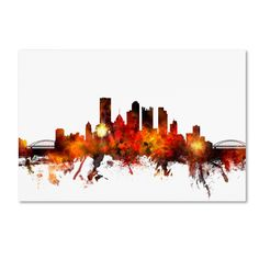 Pittsburgh Pennsylvania Skyline III by Michael Tompsett Graphic Art on Wrapped Canvas
