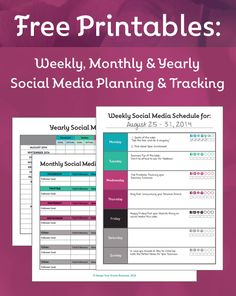 Free-Printables Social Media Calendars and Trackers  #thewisesage The Wise Sage