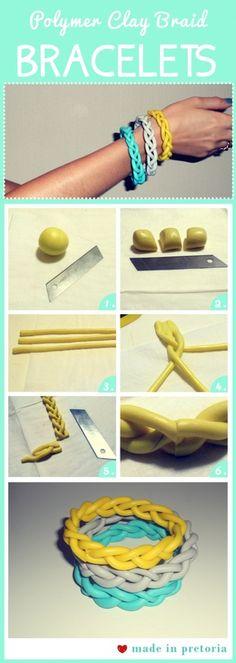 polymer clay bracelets arts-crafts
