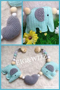 #crochet #haken #olifant #hartje #wagenspanner