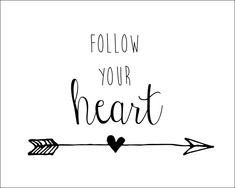 8x10 Follow Your Heart Arrow