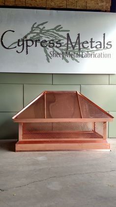 A chimney cap is a protective accessory that you can area on the top of your chimney to save rain, wind, debris, or animals from traveling by the side of the chimney and into your home. Copper Roof, Metal Roof, Rain Cap, Sheet Metal Fabrication, Chimney Cap, Corrugated Roofing, Wooden Dough Bowl, Home Repairs, Diy Home Improvement