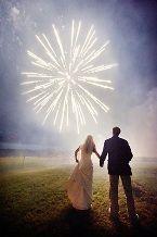 Fireworks at a wedding reception?  Amazing idea <3