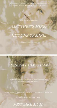 i dreamt him, adam! ... just like mom. // trc