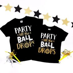 8e239a21 Party Till the Ball Drops - New Years Shirt - New Years Tshirt - Boys New  Years Shirt - Girls New Years Shirt - New Years Outfit - Happy New