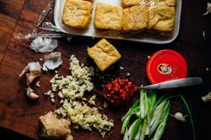 Time in the freezer transforms fried tofu. The cell walls expand, turning the blocks dense and chewy after defrosting. Vegan Vegetarian, Vegetarian Recipes, Dried Tofu, Dried Beans, Frozen Peas, Tofu Recipes, Entrees, Dinner, Healthy