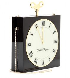 charlotte olympia handbags | Charlotte Olympia Time Piece Box Shoulder Bag in Black
