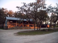 one of the cabins on Hannah's father's ranch in Bandera, TX