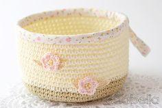 cesta Crochet por Anabelia