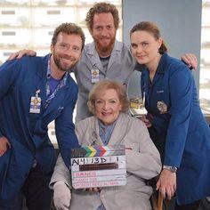Emily Deschanel, Betty White, T.J Thyne and Brian Klugman | Bones