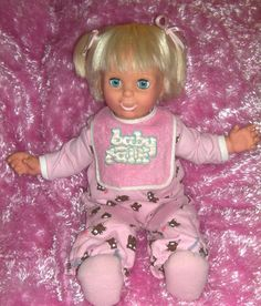 Baby Talk Doll, she took like 6 D batteries and weighed a lot for a little kid