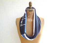 New England Patriots T Shirt Scarf / Upcycled / Recycled by ohzie
