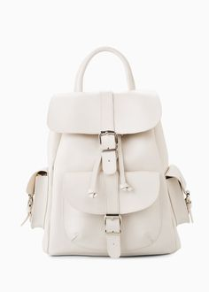 Faux leather backpack | MANGO