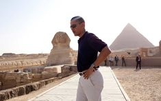 Great Sphinx in Giza,  Egypt | President Barack Obama has done more traveling in his eight years in office than most of us will in a lifetime.