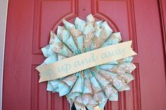 Up Up and Away Baby Shower or Party Wreath