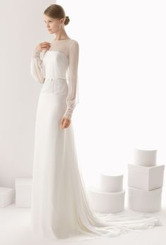 Rosa Clara 2014 Bridal Collection - Belle The Magazine - Wedding Dresses Muslim Wedding Dresses, Muslim Brides, Wedding Dress Sleeves, Long Sleeve Wedding, Bridal Dresses, Bridesmaid Dresses, Dresses With Sleeves, Wedding Gowns, Wedding Blog