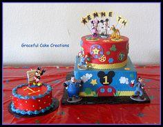 mickey mouse clubhouse birthday cake   Disney Mickey Mouse Club House 1st Birthday Cake - a photo on ...