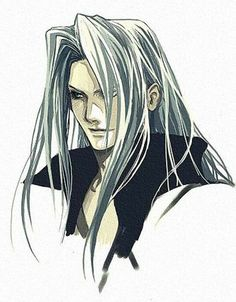 'Sephiroth' by Asa Kimino on Photobucket. Final Fantasy Funny, Arte Final Fantasy, Final Fantasy Cloud, Final Fantasy Artwork, Final Fantasy Characters, Final Fantasy Collection, Art Anime, Fantasy World, Finals