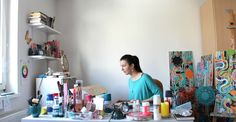 Artist Tanja Zinkl in her studio. Art Blog, Photo Wall, Studio, Frame, Artist, Home Decor, Picture Frame, Photograph, Decoration Home