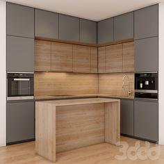 Luxury Kitchen Design, Kitchen Room Design, Interior Design Kitchen, Kitchen Decor, Kitchen Cupboard Designs, Pantry Design, Modern Grey Kitchen, Herd, Cuisines Design