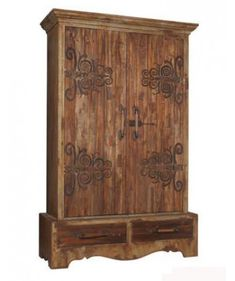 Rustic Armoire/ this is gorgeous, it would be great foe the computer