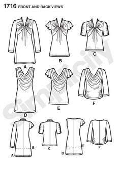 Simplicity Creative Group - Misses' Knit Top and Mini Dress: