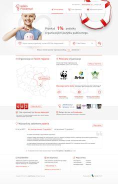 JedenProcent.pl by Vision Trust , via Behance