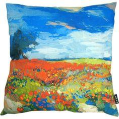 """Poppies Indoor/Outdoor Pillow, 20"""" x 20"""""""